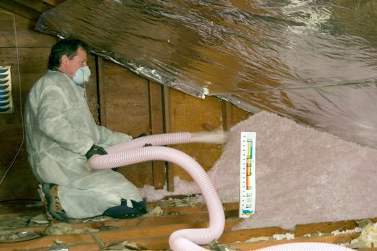 Attic insulation contractor in duluth superior grand rapids fiberglass insulation being used to add energy efficiency to an attic in superior solutioingenieria Gallery