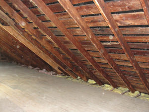 A Minnesota & Wisconsin attic before installation of SuperAttic