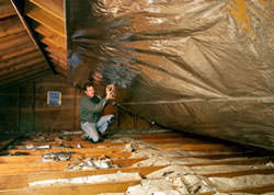 Radiant Barrier Attic Insulation in a Minnesota & Wisconsin home