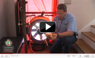 Air sealing and blower door test by your local Dr. Energy Saver in Hibbing