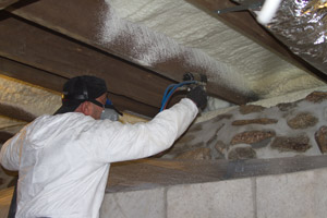 Spray Foam in the crawl space in Two Harbors